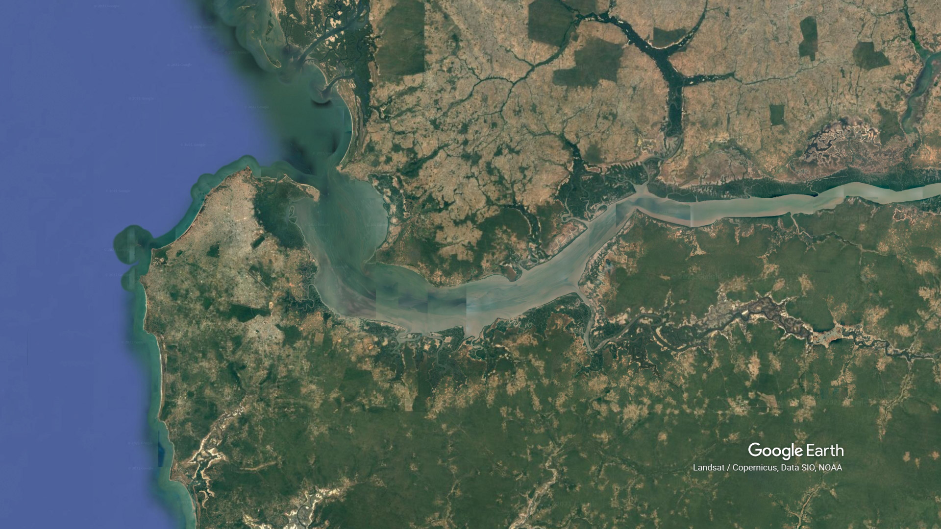 google earth gambia